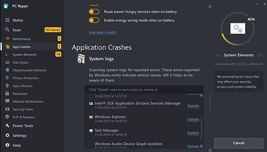 outbyte application crashes