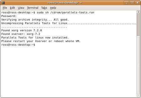 install parallels tools in ubuntu ubuntu