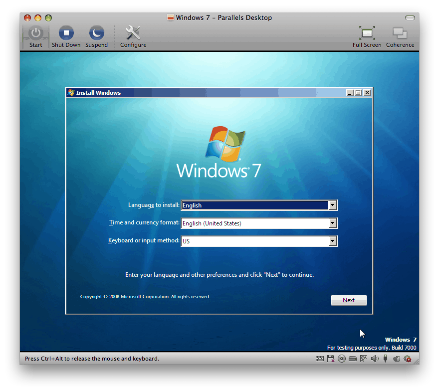 How to install Windows 7 in OS X using Parallels Desktop – a