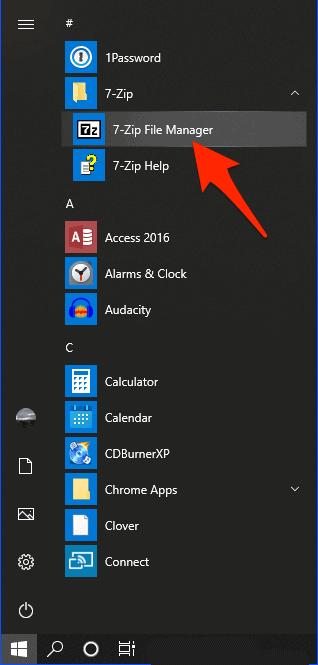 el menú de inicio de windows 10