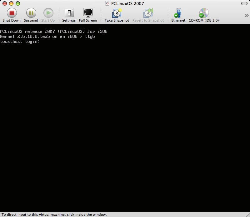 How to install PCLinuxOS 2007 using VMWare Fusion in OSX – a