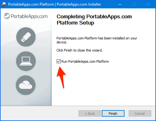 the final window in the portableapps installer