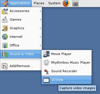UCView menu item in Ubuntu