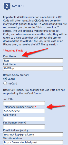 How to Create a QR Code of Your vCard