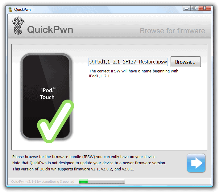 quickpwn 2.1 pour windows