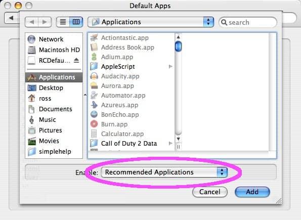 how to change default program to open pdf