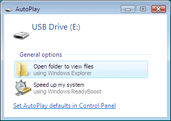 autoplay usb drive in windows