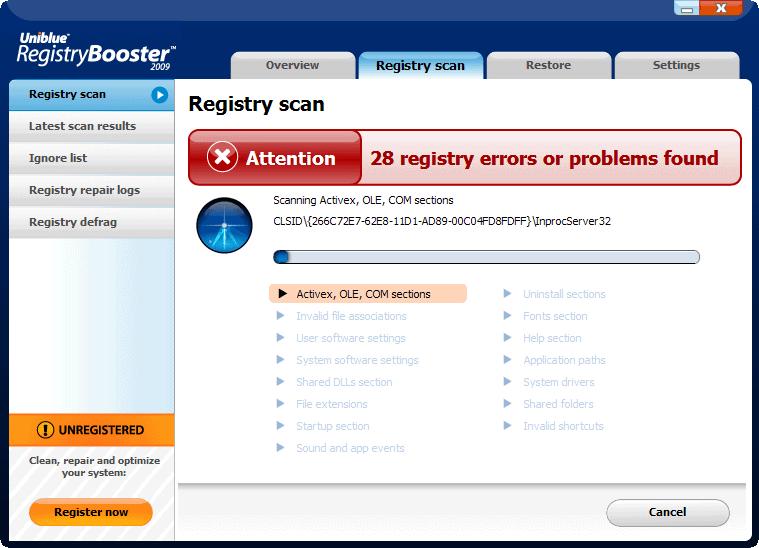 Хотя там же написаноАнализ реестра. Регистрация 26.01.2010.