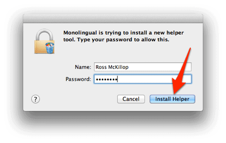 how to delete unused languages on mac