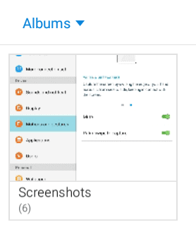 the Screenshots photo gallery on Android