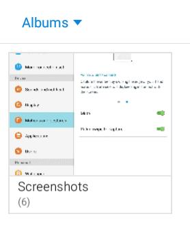 la galería de fotos de Capturas de pantalla en Android