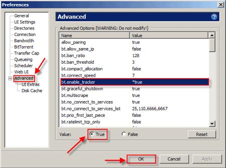 Advanced uTorrent Settings