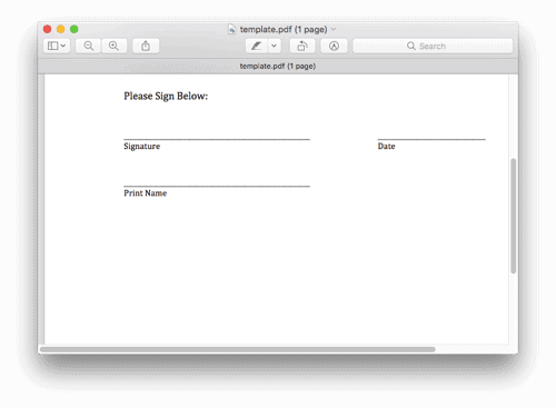 screenshot of Preview for macos with a PDF open