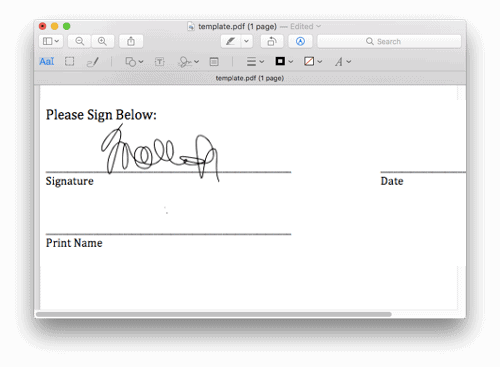 a pdf with a signature added to it