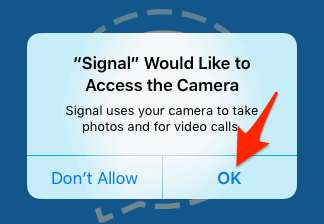 Permission request window in iOS