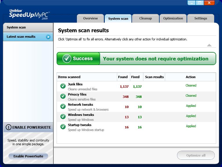 Uniblue SpeedUpMyPC 2009 v4.0.0.1 (UA-IX) смотреть онлайн бесплатно в хорош