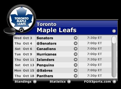 maple leafs via conference call omni widget