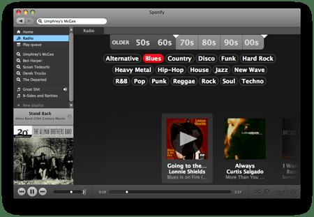 spotify radio view