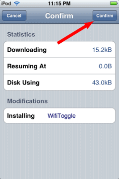 confirm wifitoggle installation