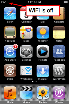 iphone/ipod touch springboard with wifi turned off