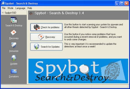 Remove Spyware with Spybot Search and Destroy