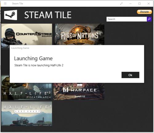 Para agregar Juegos de Steam como mosaicos en el menú Inicio