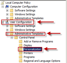 the Windows Group Policy Editor