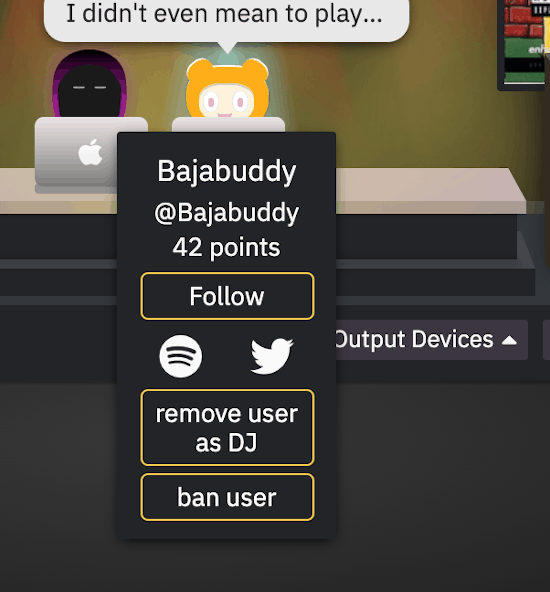 auxparty dj hover card