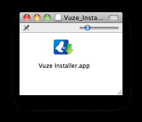 the Vuze installer