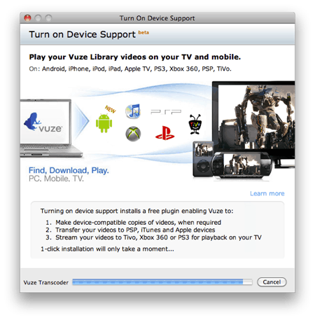 software used to stream videos from a Mac to a Playstation 3 installing