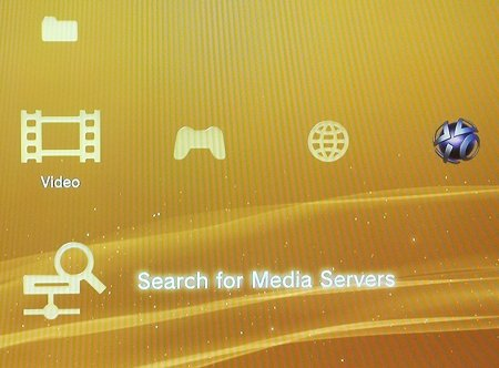 selecting a Media Server on a PS3