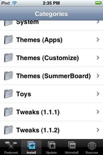 Installer.app categories