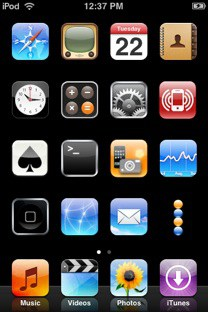 hidden icon names in the SpringBoard