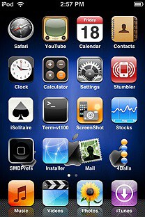 bbblue SummerBoard Theme for the iPhone or iPod Touch