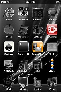 blackvista SummerBoard Theme for the iPhone or iPod Touch