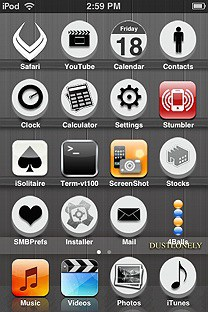 blackwood SummerBoard Theme for the iPhone or iPod Touch