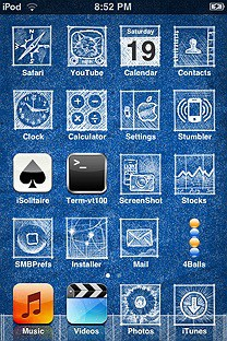 blueprint SummerBoard Theme for the iPhone or iPod Touch