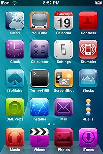 brightacrylic SummerBoard Theme for the iPhone or iPod Touch
