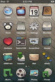 buuf2 SummerBoard Theme for the iPhone or iPod Touch