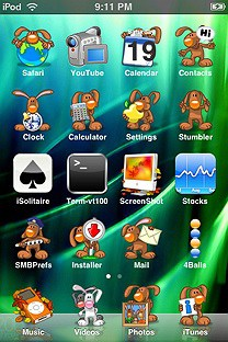 cutebunnies SummerBoard Theme for the iPhone or iPod Touch