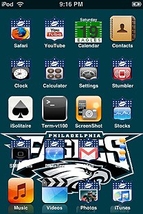 eagles SummerBoard Theme for the iPhone or iPod Touch