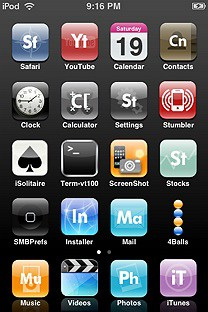 elemental SummerBoard Theme for the iPhone or iPod Touch