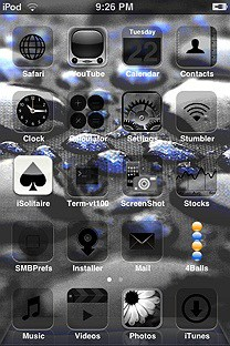 fercho rain black blue SummerBoard Theme for the iPhone or iPod Touch