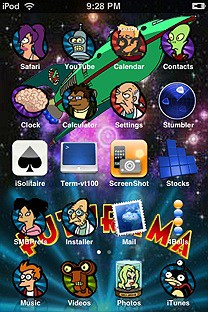 futurama SummerBoard Theme for the iPhone or iPod Touch