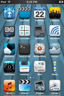 gates bluize SummerBoard Theme for the iPhone or iPod Touch