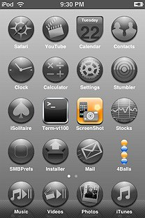 gradiameter SummerBoard Theme for the iPhone or iPod Touch
