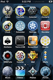halo3 SummerBoard Theme for the iPhone or iPod Touch
