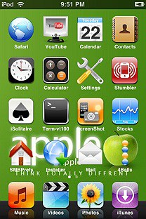 itheme SummerBoard Theme for the iPhone or iPod Touch