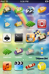 katamari SummerBoard Theme for the iPhone or iPod Touch