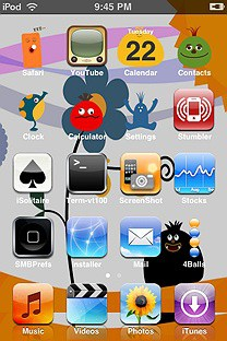 locoroco SummerBoard Theme for the iPhone or iPod Touch